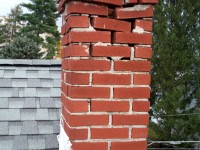 Unlined chimney :: Destroyed by combustion gasses
